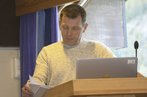 Blør: – Bonden i meg blør, sa Svein Erik Wold (Sp) frå talarstolen i kommunestyret.