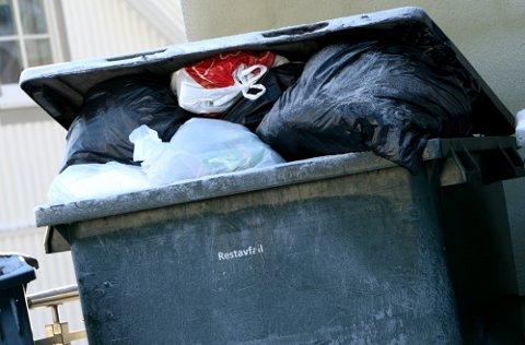 Restavfall: Mye av søppelet fra hyttefolket i Valdres ender opp som restavfall.