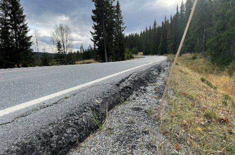 BEKYMRA: Vinteren er på veg, og med det kommer også utforkjøringene. Flere frykter at brøytestikker «langt» utenfor vegbanen kan føre til flere utforkjøringer. Her fra fylkesveg 51, Golsvegen.