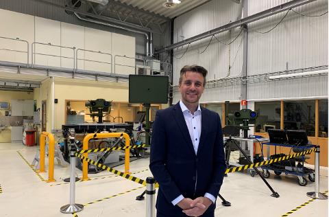 SNUDDE: Rheinmetall Norway-sjef Thomas Berge Nielsen kan konstatere at fjoråret bød på både omsetningsvekst og overskudd. Sier Utenriksdepartementet ja til militærteknologieksporten, kan Nøtterøy-bedriften snart også  lande den største kontrakten i sin historie.