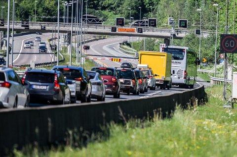 TRAFIKK: Tre ganger i døgnet skal trafikkmønsteret legges om ved Nordbytunnelen i høst.