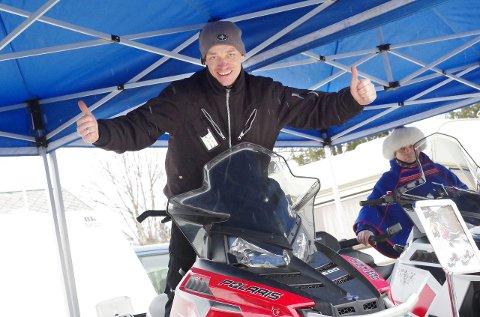 Engasjert: Roar Nilsen håper snøskuterløyper i Tynset og Alvdal kan bli en realitet neste vinter.               – Snøskuter er hobbyen som ble til en jobb for meg, sier Nilsen.                       Foto: Tonje Hovensjø Løkken