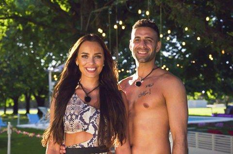 FØRSTE PARTNER: Ali Esmael (til høyre) valgte Mie Mack Cappelen som sin første partner på TV 2-programmet «Love Island».