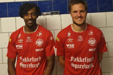 MÅLSCORERE: FFKs målscorere Yuel Wedi Sembel og Fredrik Abrahamsen.