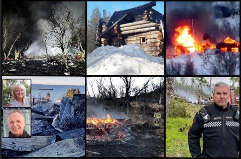 BRANNER: De siste årene har det vært en rekke branner på hytter i  nord.