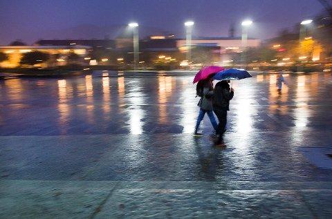 Det blir vått og grått i Bergen de neste dagene. (Arkiv)