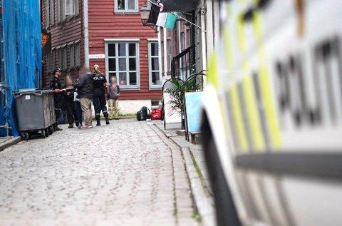 Politiet tok avhør på stedet etter opptrinnet.