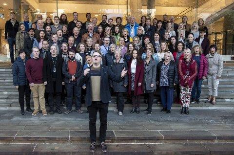 Mye å feire: Håkon Matti Skrede har vært kormester for Bergen Filharmoniske kor de siste 15 årene.