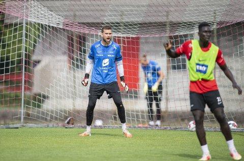 Mikkel Andersen (32) jubler like mye for å forhindre baklengsmål som en scoring på                                                           motstanderen. Søndag ser han ut til å få sin Brann-debut i cupkampen mot Fana.