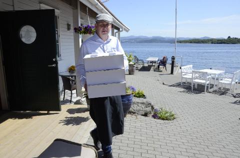 Fornøyd: Kai Risa forteller om mange gjester på Sjøberg Ferie i sommer.