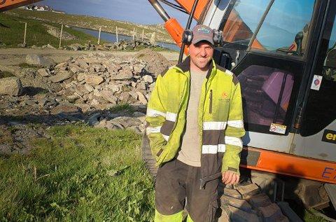 Egen bedrift: Audun Nordbø begynte i det små som tolvåring. Nå driver han sin egen bedrift.