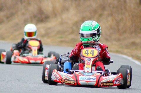 Niklas Eker Abrahamsen kjørte inn til fjerdeplass i klasse Mini.