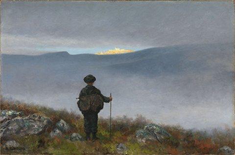 Theodor Kittelsen: Langt, langt borte saa han noget lyse og glitre, 1900