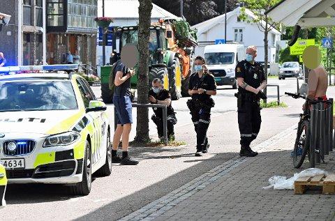Mannen, som stakk fra ulykka på E18 ved Hanekleiva, ble pågrepet i Sande sentrum kort tid etter ulykka.