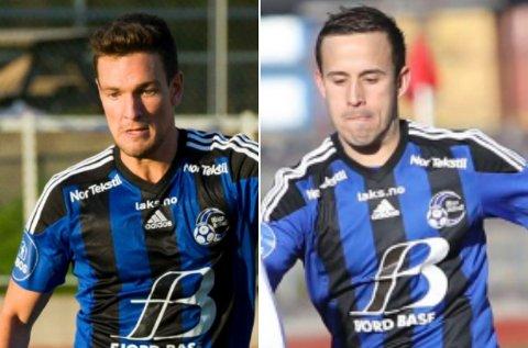 FERDIGE: Torbjørn Aabrekk t.v.  og Dejan Corovic er begge ferdige i Florø Fotball, melder klubben på sine nettsider.