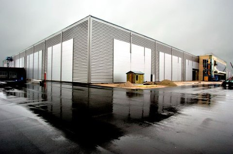 NI ÅR GAMMELT: Europris-lageret på Øra sto klart i 2007 (Arkivfoto: Geir A. Carlsson)