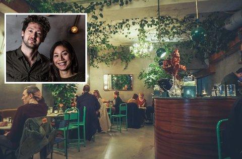 Det handler mye om planter i baren Stian Vaagland driver sammen med samboeren Veronica Vollund og Daniel Fouche (ikke på bildet) i Oslo. Nå drømmer de om en liten avlegger i Fredrikstad i noen sommeruker.