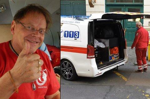 - SPESIELT OPPDRAG: Terje Erlid fra Harstad på ambulanseoppdrag i Tsjekkia.