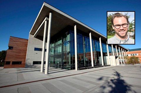 INNOVASJONSKONKURRANSE: Campus Vestfold er stedet hvor alle landet studenter skal samles for å innovere og skape konsepter og ideer til Norges beste studentapplikasjon. Leder for Innovasjon og teknologi i Studentsamskipnaden i Sørøst-Norge, Alexander Hesby, gleder seg til idédugnaden.