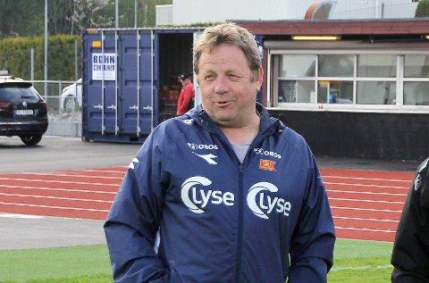 Bjarne Berntsen fotografert før cupkampen mellom Frøyland og Viking for to år siden.