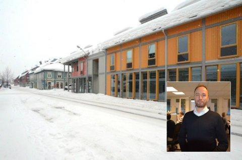 ETABLERING: I 1. etasjen av Storgata 113 i Lillehammer sentrum ser «House of Nerds»-direktør Stian Skoglund for seg å få lokaler. Satsingen blir unik i byen og skal tilby noe ingen andre gjør.