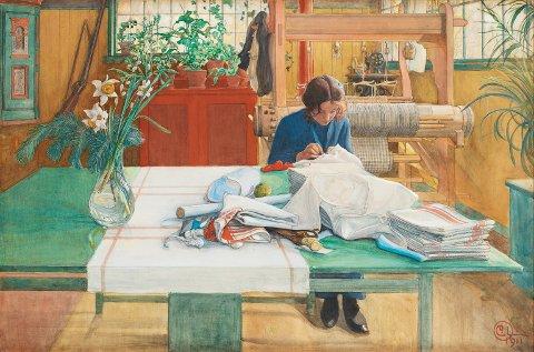 Svenske Carl Larssons «Syende flicka» kostet over 10 mill. kroner å kjøpe. På nyåret kommer det på en av veggene i Lillehammer Kunstmuseum.