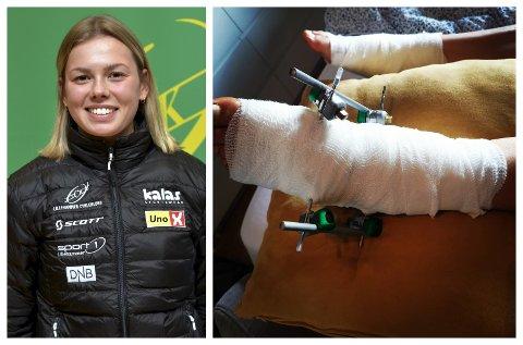 Sigrid Andrea Fløgstad kunne ikke trene på fire måneder etter badeulykken.