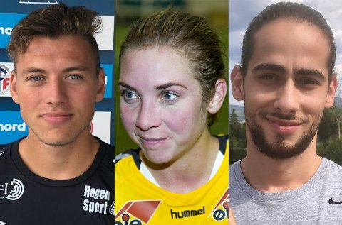SPILLER LØRDAG: Lagene til Jardar Jameson, Marte Berget og Durim Muqkurtaj spiller lørdag. Hadeland.no sender kampene.