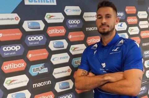 PÅ PLASS: Ludek Vejmola kommer fra nivå to i Tsjekkia, men har tidligere spilt for toppklubben Mlada Boleslav.