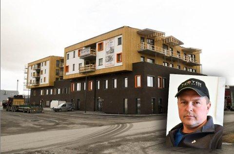 HEKTISK ÅR: Et hektisk år har gitt Kenneth Strifeldt og selskapet Tecto Entreprenør AS en omsetning på over 58 millioner kroner. Bildet viser ett av de største prosjektene for entreprenøren, bygg C4 i Alta.