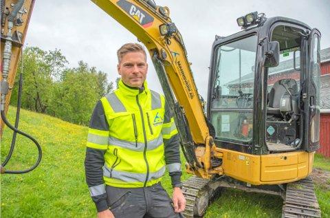 Fredrik Mannsverk startet bedriften i 2013. Først nå driver han det på fulltid. Foto: Krister Sandaker Tårn/Kronstadposten