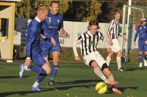 MÅLSCORER: Jesper Sundby signerte SHIULs mål og er en av flere unge spillere i «nye» SHIUL. Alle foto: Øivind Eriksen