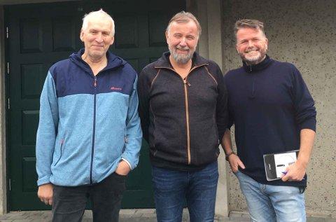 MIMREGENERALENE: Kjell Gudmestad, Asgaut Steinnes og Martin Våland er selv sentrale skikkelser i jærsk musikkhistorie. Fredag kveld inviterer de til mimrekveld på Jadarheim på Nærbø.
