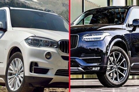 BMW X5 og Volvo XC90 er biler som er forbeholdt de som kan bruke langt over gjennomsnittet på ny bil. Men de er det ganske mange av.