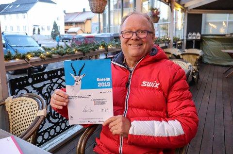 Bjørn Rosenvinge som driver Børretzen Pub har fått utmerkelse som Gaselle-bedrift i 2019.