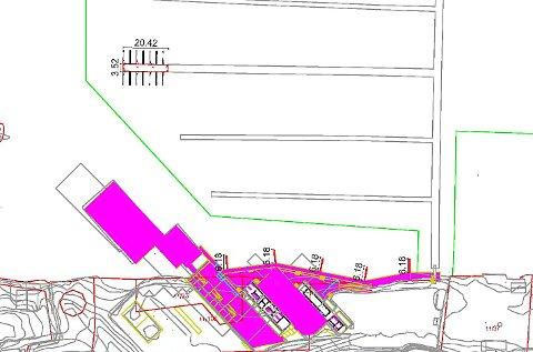 Øverst til venstre vises de seks nye båtplassene som Kragerø Resort har lyst til å etablere i forkant av sommersesongen.