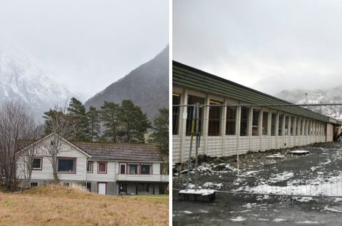 Prosjektgruppa som jobbar med områderegulering for Rosendal tettstad meiner idrettshallen bør bli plassert anten på Øyrane 1 (t.v.), tomta som kommunen kjøpte i desember 2019, eller der praksisfløya står.