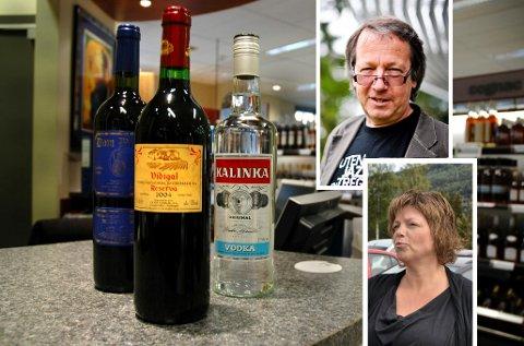 Verken Ole Kristian Halvorsen eller Solveig Kongsjorden kan gå til et vinmonopol i sio