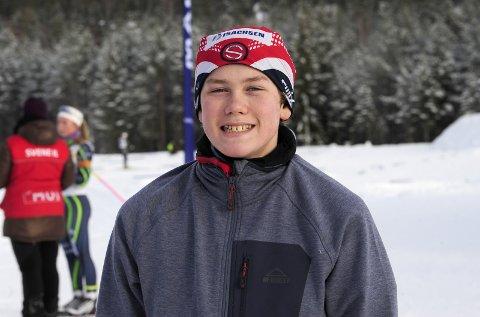 TO SØLV: Oscar Nilsen Hostvedt fra Svene IL hadde en kjempehelg på hjemmebane med to sølv i KM. Foto: Torgrim Gotland Bakke