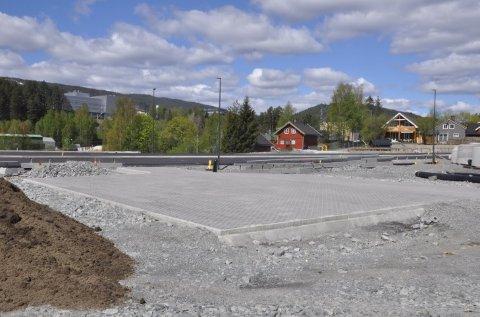 Beredskapsplassen ligger i krysset ny E134/Gomsrudveien ved Tislegård.