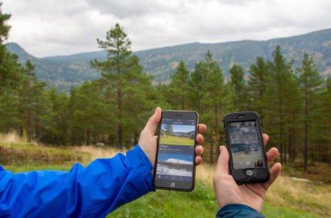 Telefonen kan være til stor nytte ute i naturen. Bare husk å ikke bli for opphengt i skjerm på tur.