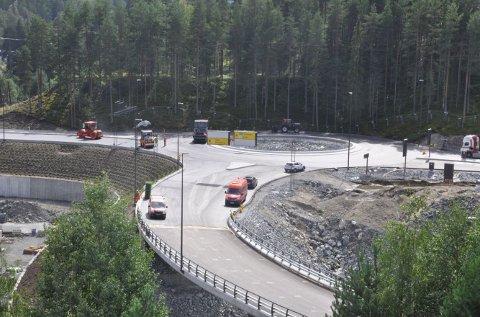 Sellikdalen: Ved renseanlegget i Sellikdalen blir det ny innkjøring til Kongsberg Teknologipark.
