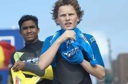 VM-klare: Lars Alok Benjaminsen (t.v.) og Anker Frantzen er klare for VM i surfing i California. Her fra fjorårets EM.