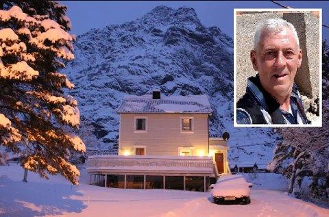 Leier ut: Roy Finstad leier ut et rom i huset sitt på Å i Moskenes. Han er en av stadig flere som velger å leie ut via Airbnb.