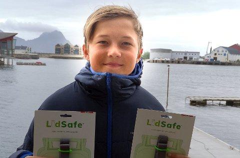 Jakob Linchausen Getz (14) i Svolvær.