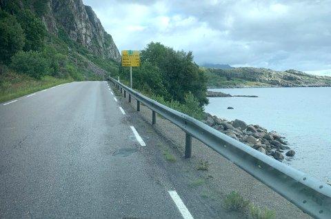 I dag går det en sti langs utsiden av autovernet fra Multebærholmen til under fjellet.