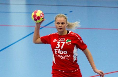 SEIER: Toppscorer Sarah Farbrot Sakariassen scoret 13 mål på bortebane i Arendal. Da Lyngdal vant for første gang siden april 2019.