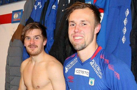LÅNES UT: Simon Laugsand (t.h.) skal spille høstsesongen for Finnsnes, etter at en låneavtale med TUIL er på plass.