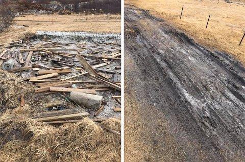 PLANK OG HJULSPOR: I fjor høst ryddet Tromsø kommune opp etter restene av campingdriften i Steinsvika, men det likevel ikke særlig pent ut her.