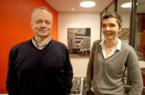 DELT: Arild Østgård er adm.dir for Peab Bygg Norge AS. Han skal lede Peabs byggeaktivitet i Norge fra Tromsø. Gro Skaar Knutsen har tatt over stillingen til Østgård og er dermed Peab-topp i regionen.